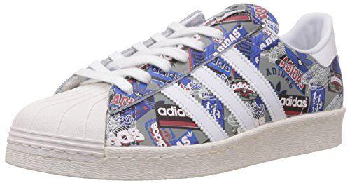 Adidas Superstar 80s Pioneers Nigo Sneaker B35768 White/Cream White Gr. 43 1/3 (9,0) - http://uhr.haus/adidas/adidas-superstar-80s-pioneers-nigo-sneaker-white
