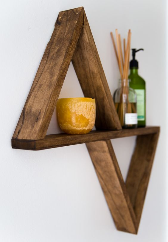 Triangle shelf, Triangles and Shelves on Pinterest