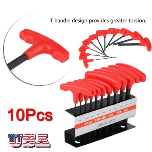 11 06 10 Pc T Handle Type Hex Key Wrench Set Metric Sizes Allen Wrench Mm Set Hex Key Wrench Set Wrench