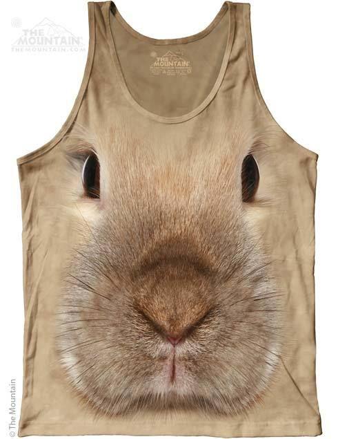 The Mountain - Bunny Face Mens Tank Top, $24.00 (http://shop.themountain.me/bunny-face-mens-tank-top/)