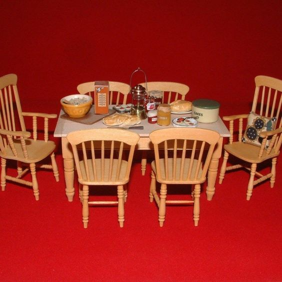 Detalles acerca de Casa De Muñecas En Miniatura De Madera Estilo ...