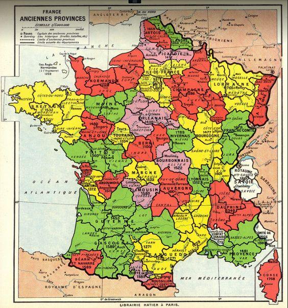 Ancient Provinces Of France My Tirel Terrel Ancestors Lived In Poix De Picardie And Amiens My Ancestors Held La Carte De France Carte Europe Vieux Monde