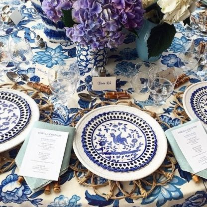 11 table settings to inspire your next lunch : Tory Burch is a constant reminder that pattern always works with more pattern.  @toryburch