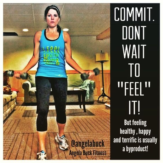 Commit. You have to commit. It can never be based on emotion, feeling, circumstances, environment or lack there of. Commit, and feeling healthy, happy, and terrific is usually a bi-product of it! www.facebook.com/angelabuckfitness If you'd like to become healthier, email me at redefinewithangela@gmail.com. #redefine #redefinewithangela #health #healthy #nutrition #cardio #fitness #exercise #workout #fitspo #shirt #weightloss #fitspiration #motivation #inspiration #fit…