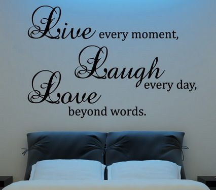 Family Love Quotes and Sayings Wall Decals for Bedroom Interior Wall Decorating…:
