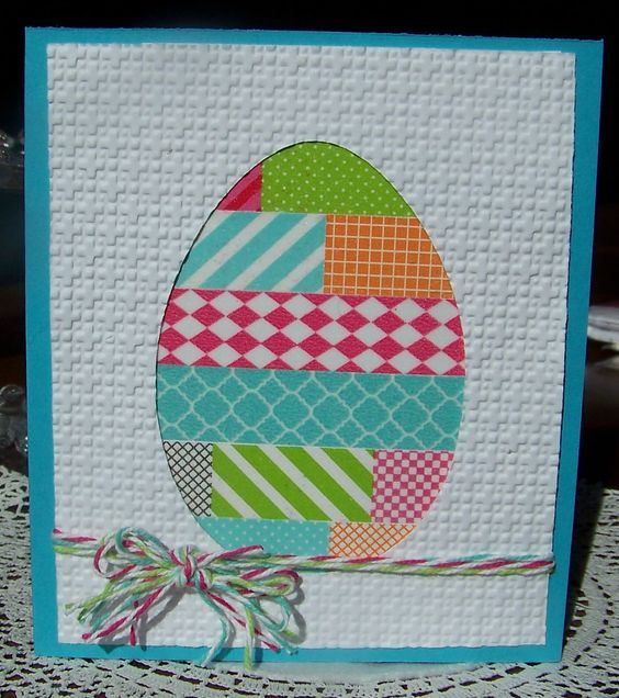 Nellies Nest: Washi Tape Egg