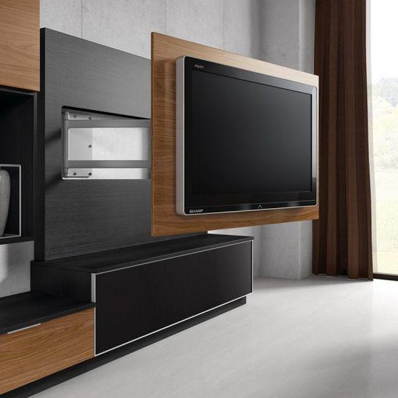 Panel giratorio para televisor mueble para tv pinterest for Mueble soporte tv
