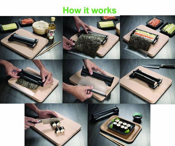 sushi maschine easy sushi maker 3 5 cm k che haushalt k chen gadgets. Black Bedroom Furniture Sets. Home Design Ideas