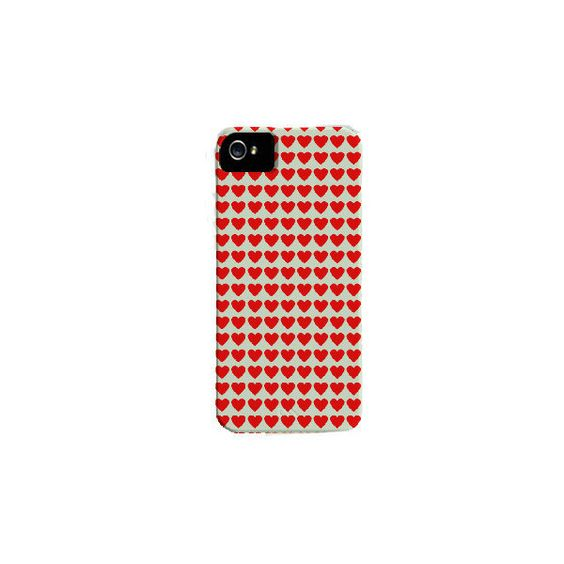Custom iPhone 5 Case Photography: Tiny Red Hearts ($35) ❤ liked on Polyvore