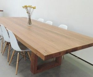 recycled spotted gum timber dining table furniture