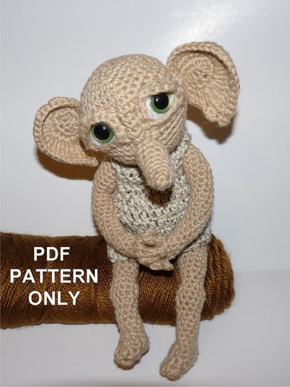 Dobby Harry Potter Amigurumi : Elf Crochet PATTERN Hobby the House Elf - Doll NOT ...