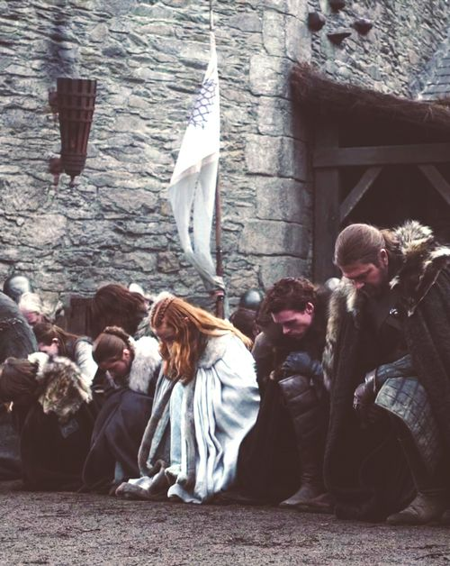 bowing before their sovereign