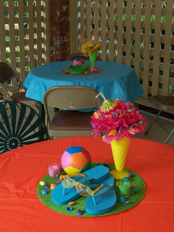Pool party retro pool party pinterest piscinas for Ideas para cumpleanos en piscina