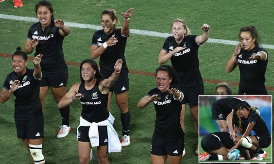 New Zealand women's rugby sevens perform emotional haka after Rio loss
