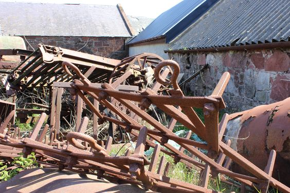 Antique Spike Harrows : Old farm equipment and horse drawn on pinterest
