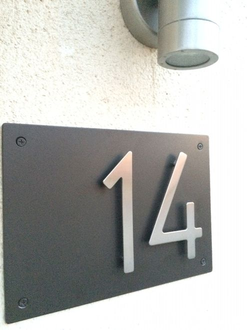 Address Plaque With 5 Bungalow Style House Numbers 2 Digits Bungalow Style House House Numbers Bungalow Style