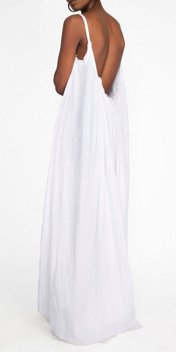 Gathered Gauze Organic Cotton Maxi Dress made from 100% Organic ...