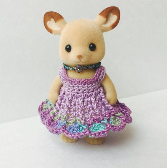 Momma Calico Critter Dress in Purple