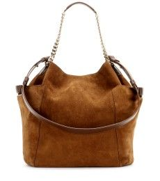 Jimmy Choo - Anna suede leather tote - mytheresa.com