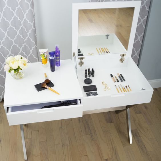 You'll love the Porsha Desk Vanity Set with Mirror at Wayfair - Great Deals on all Furniture  products with Free Shipping on most stuff, even the big stuff.
