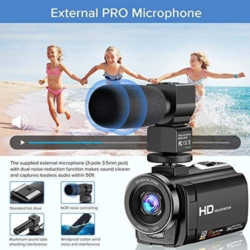 Video Camera Camcorder Youtube Vlogging Camera Video Camera Digital Zoom Vlogging Camera