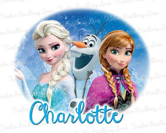 Disney FROZEN Printable Iron On Transfer with Elsa, Olaf and Anna by TwelveBradburyLane