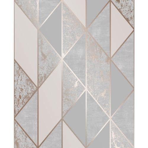 Graham Brown Milan 56 Sq Ft Grey Rose Gold Vinyl Textured Stripes Unpasted Wallpaper Lowes Com In 2021 Grey Removable Wallpaper Grey Wallpaper Gold Removable Wallpaper