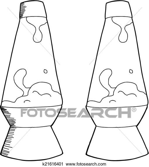 Outlined Lava Lamp Clipart K21616401 Clip Art Lava Lamp How To Draw Hands
