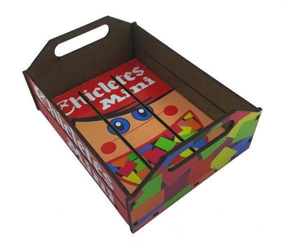 Bandeja Chiclets Pequena - 12 x 16 x 6,5 cm