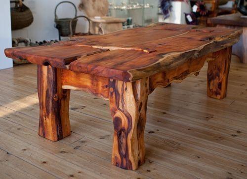 table en bois rustique meuble bois brut