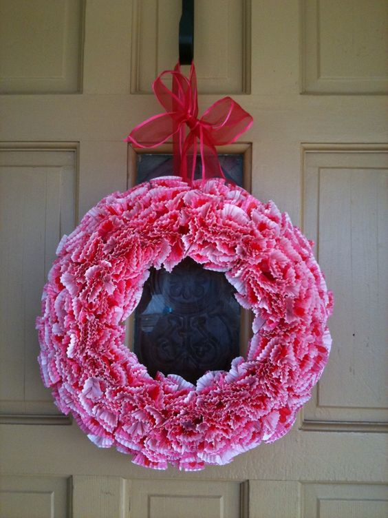 PrettyRandomProjects: Valentine's Wreath- valentijns krans