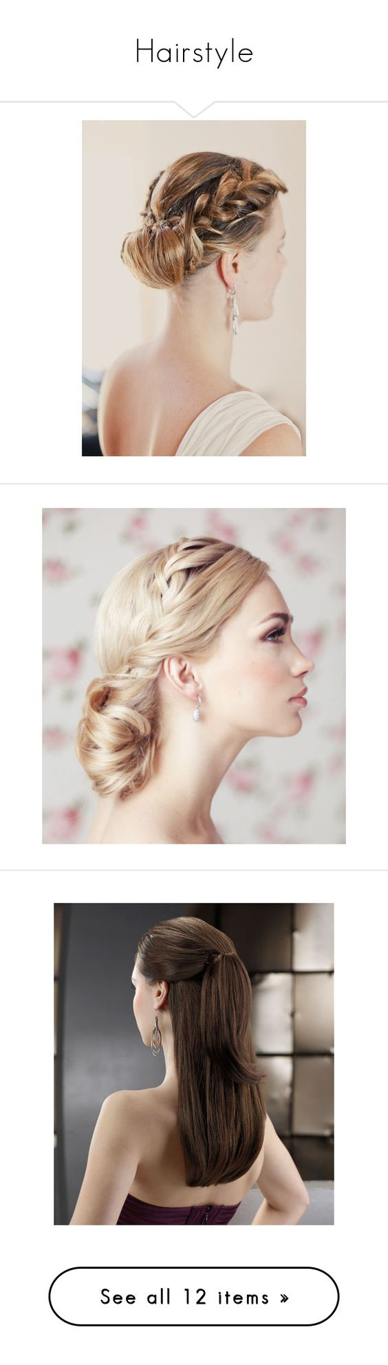 """Hairstyle"" by adelinewindsor ❤ liked on Polyvore featuring hair, accessories, hair accessories, cabelos, hairstyle, beauty products, haircare, hair styling tools, hairstyles and hair styles"