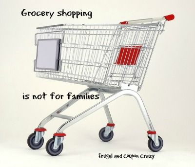 Why Grocery Shopping is not a family affair What can happen when you take your family with you