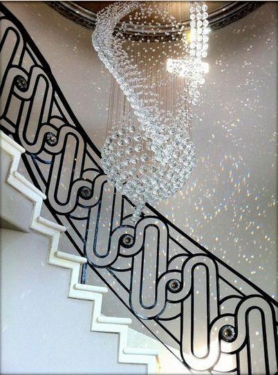 Wrought iron stair railing ideas luxury classic staircase - Barandales para escaleras ...