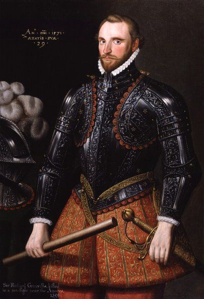 Sir Richard Grenville - aged 29 years Artist: Anonymous, English School 16th century - Dated: 1571