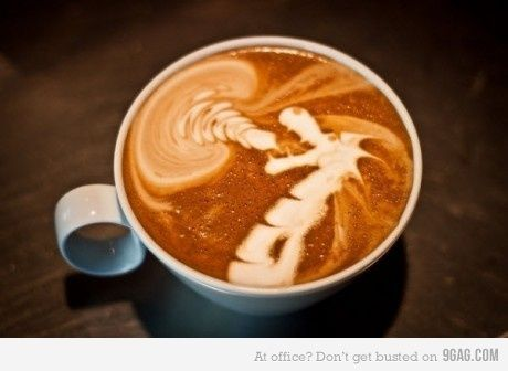 Dragon in your coffee.