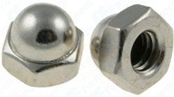 "100 #10-24 X 3/8"" Steel Acorn Cap Nuts - Nickel Plated by Clipsandfasteners.com Inc. $7.99. Steel Acorn Cap NutNickel PlatedThread Size: 10-24Hex Width: 3/8""Height: 11/32""100 Per Package"