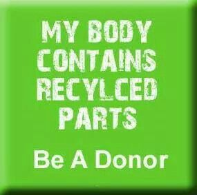 An angel gave me life. You can be an angel too. Be an organ donor.: