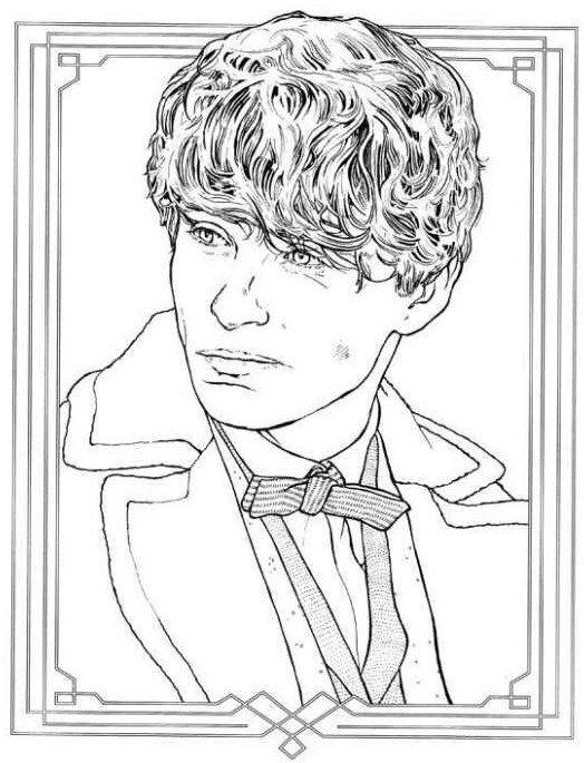Fantastic Beasts Coloring Pages Fantastic Beasts And Where To Find Them Coloring Page In 2020 Fantastic Beasts Harry Potter Coloring Pages Fantastic Beasts Creatures