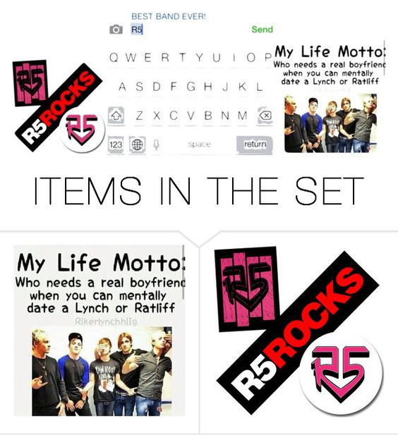 """""""R5<3"""" by rockyshorgirl ❤ liked on Polyvore featuring art"""