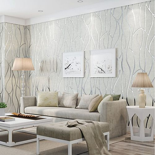 Wallpaper Non Woven Fabric Wall Covering Adhesive Required Metallic 2020 Us 111 99 Fabric Covered Walls Home Wallpaper Wall Coverings