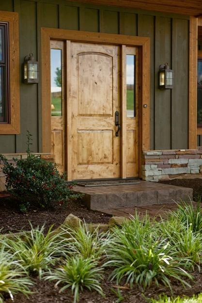 Knotty pine entry door
