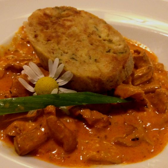 Chanterelle Mushroom Stew with Dumpling MS Mozart-style