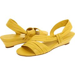 yellow wedge shoe with a low heel $54.99