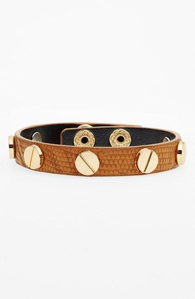 Cara Studded Leather Bracelet (Online Only) available at #Nordstrom