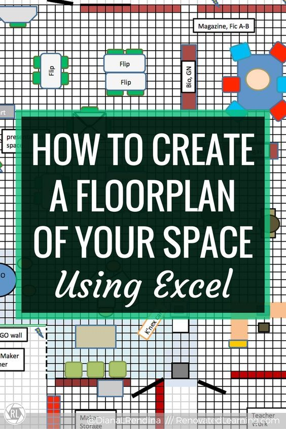 How To Create A Floorplan Of Your Space In Excel Renovated Learning Learning Spaces Library Floor Plan Makerspace Library