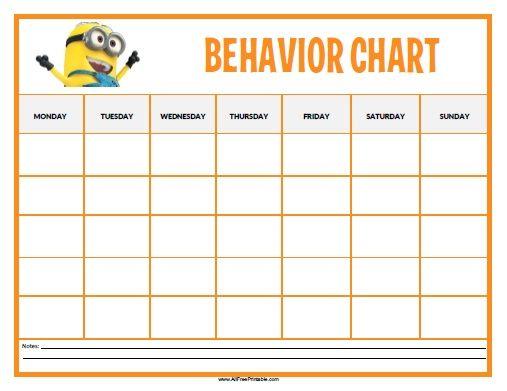 FREE Download!  - kids behavior chart template