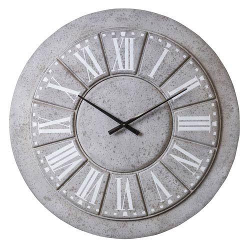 Cooper Classics 41348 Lily Gray Wall Clock Bellacor Grey Wall Clocks Wall Clock Metal Wall Clock