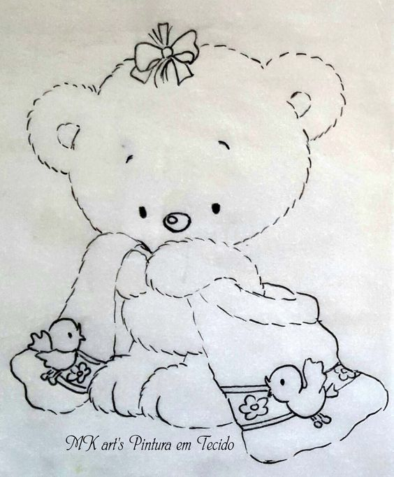 riscos pintura em tecido bebe