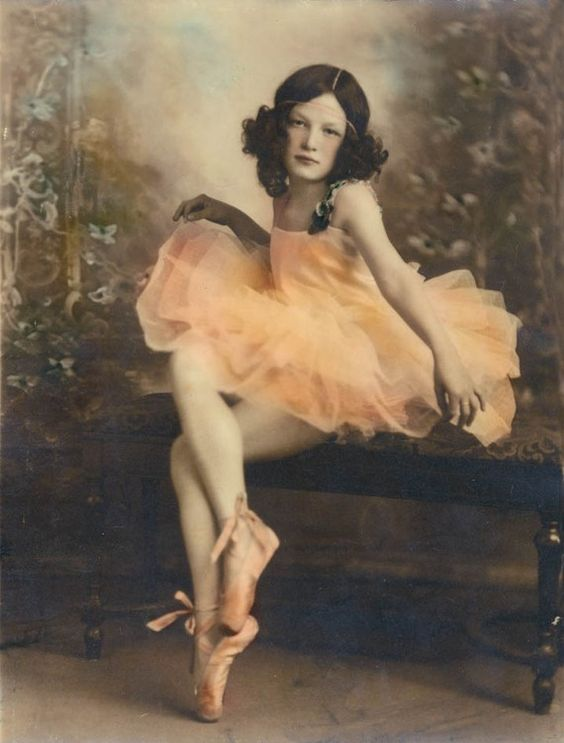 vintage ballerina beauty